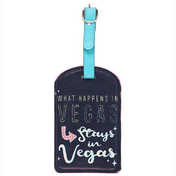 What Happens In Vegas Luggage Tag