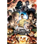 Attack On Titan Season 2 Collage Key Art Maxi Poster
