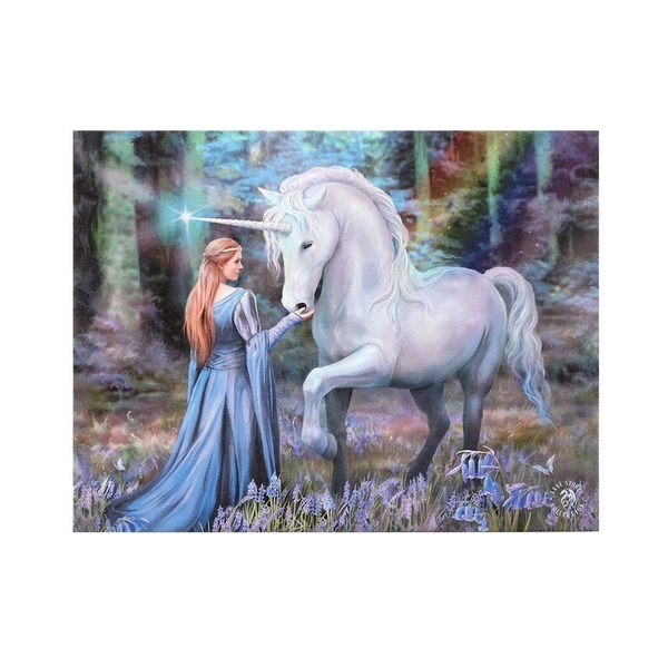 19x25 Bluebell Woods Canvas by Anne Stokes