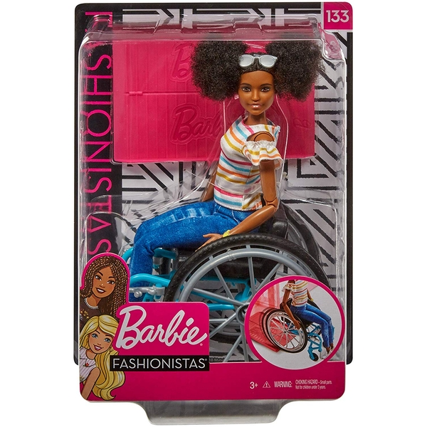Barbie Fashionista Doll and Wheelchair - Brunette