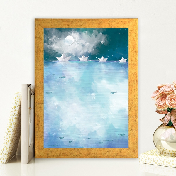 AC473473234 Multicolor Decorative Framed MDF Painting