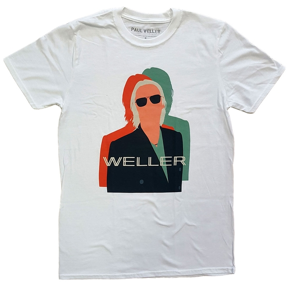 Paul Weller - Illustration Offset Unisex Medium T-Shirt - White