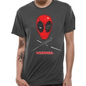 Deadpool - Crossbones Men's Small T-Shirt - Grey