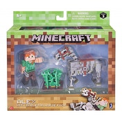 Minecraft Alex Figure with Skeleton Horse
