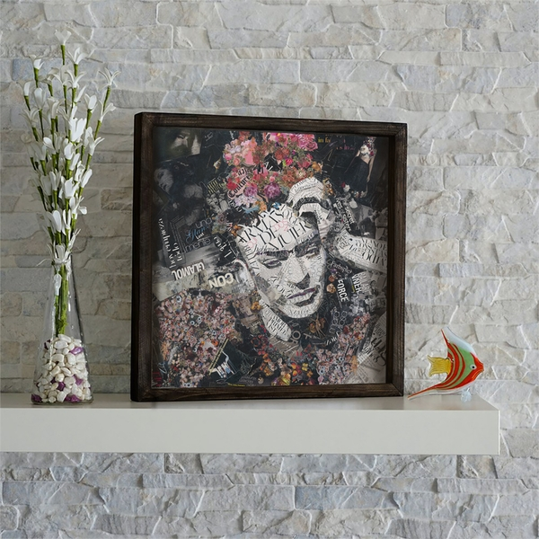 KZM533 Multicolor Decorative Framed MDF Painting