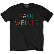 Paul Weller - Multicolour Logo Men's Small T-Shirt - Black