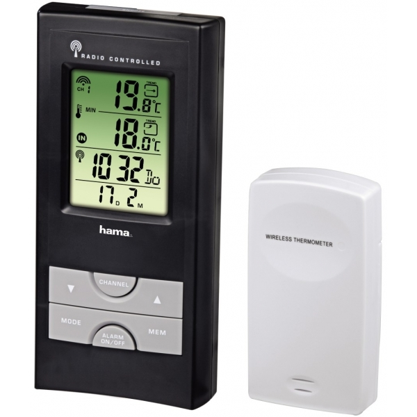 Hama EWS-165 Electronic Weather Station Black