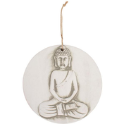 Large Round Terracotta Buddha Plaque
