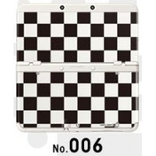 New Nintendo 3DS Cover Plates No 006 Black & White Check Faceplate