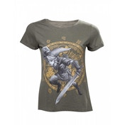 Nintendo Legend of Zelda Woman's Link at the Gate of Time X-Large T-Shirt - Military Green