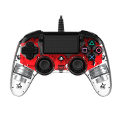 Nacon Compact Wired Illuminated Light Edition Controller (Red) PS4