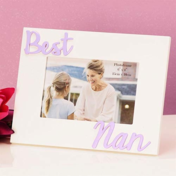 "6"" x 4"" - Photo Frame 3D Letters - Best Nan"