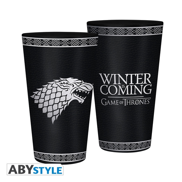 Game Of Thrones - Stark - Foil Large Glass