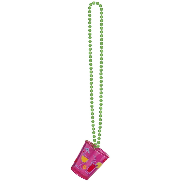 Necklace With Shot Glass Hawaii (Pink)