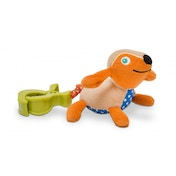 Oops Colourful and Multi-Textured Soft and Vibrating Dog Pull-Toy Accessory