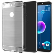 CASEFLEX HTC DESIRE 12 PLUS CARBON ANTI FALL TPU CASE - CLEAR