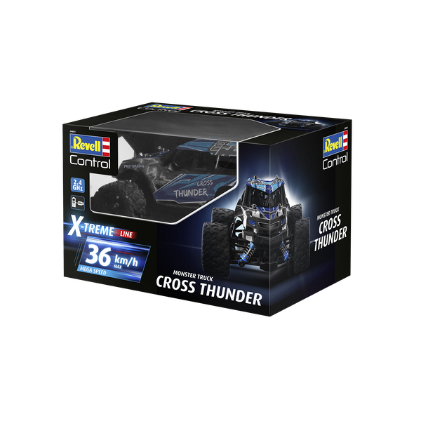 X-Treme CROSS THUNDER 1:18 Scale Revell Control Radio Controlled Monster Truck