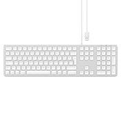 Satechi Aluminum USB Wired Keyboard with Numeric Keypad - Compatible with iMac Pro/iMac, 2020/2019/2018 iPad Pro, MacBook Pro/Air, 2020/2018 Mac Mini and MacOS devices