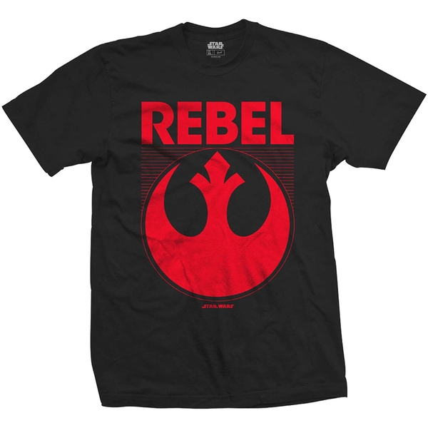 Star Wars - Episode VII Rebel Unisex X-Large T-Shirt - Black