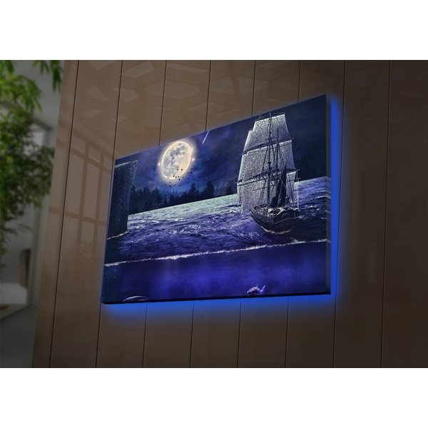 4570DACT-67 Multicolor Decorative Led Lighted Canvas Painting