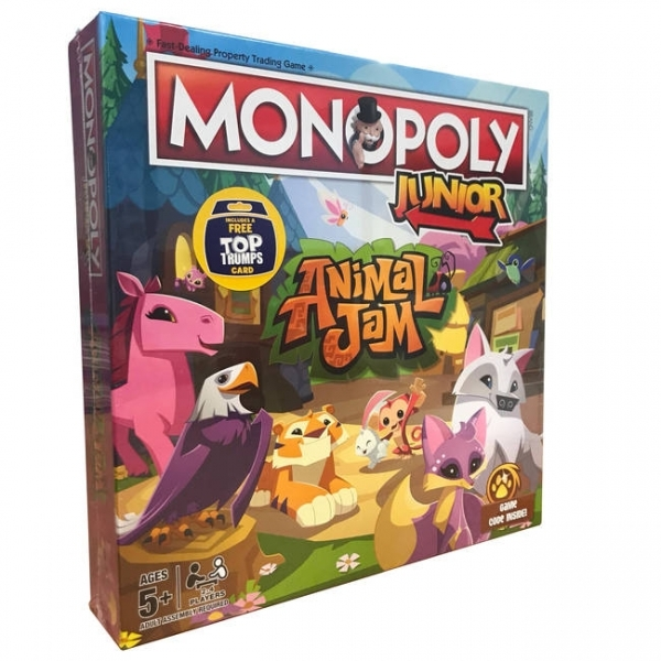 Ex-Display Animal Jam Junior Monopoly Board Game Used - Like New - Image 1