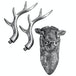 Stag Deer Head Wall Sculpture | M&W Silver - Image 3