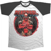 Marvel Comics Deadpool Crossed Arms Men's X-Large T-Shirt - White