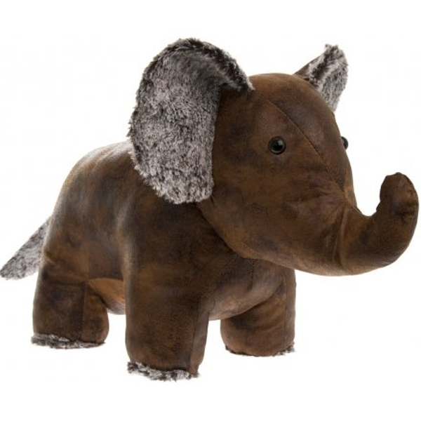 Elephant Faux Leather Doorstop
