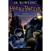Harry Potter and the Philosopher's Stone (Book 1) Hardcover – Large Print