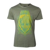 Guardians of the Galaxy Vol. 2 Men's Small Groot Shield Heather T-Shirt - Green
