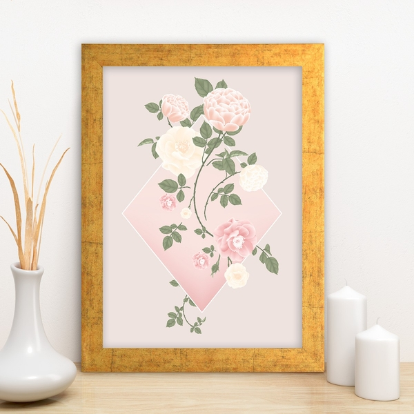 AC10664800341 Multicolor Decorative Framed MDF Painting