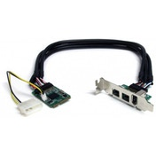 3 Port 2b 1a 1394 Mini PCI Express FireWire Card Adapter