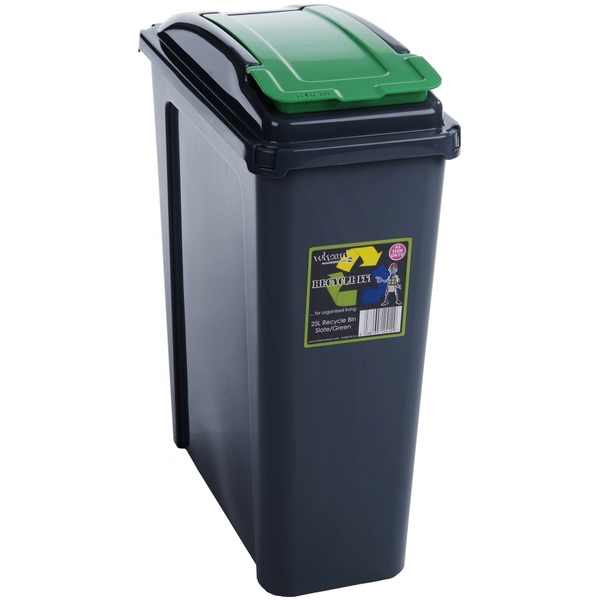 Wham Recycling Bin 25Ltr Green
