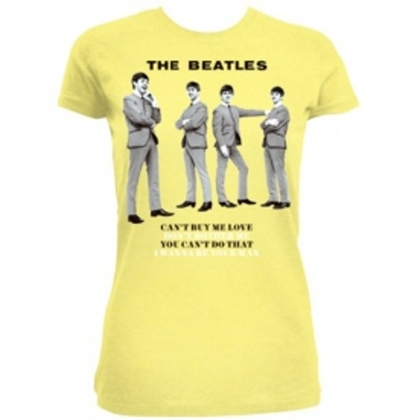 The Beatles You Cant Do That Yellow Ladies TS: Small