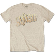 Genesis - Vintage Logo - Golden Men's X-Large T-Shirt - Sand