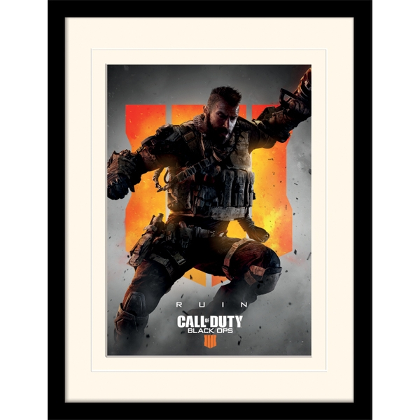 Call of Duty: Black Ops 4 - Ruin Mounted & Framed 30 x 40cm Print