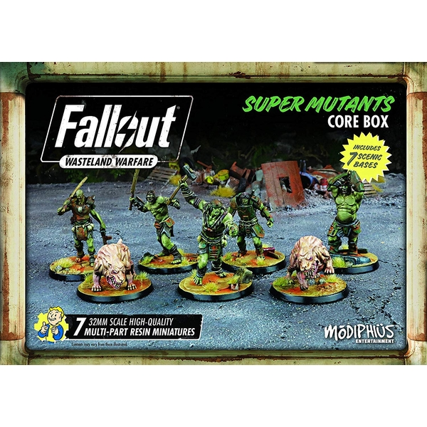 Fallout Wasteland Warfare Super Mutants Core Box Board Game