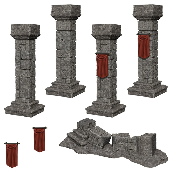 WizKids Deep Cuts Unpainted Miniatures (W11) Pillars & Banners