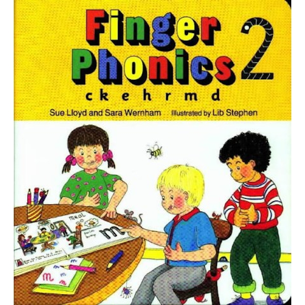 Finger Phonics book 2: in Precursive Letters (BE) by Sue Lloyd, Sara Wernham (Board book, 1994)