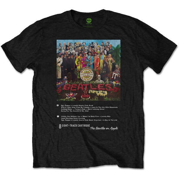 The Beatles - Sgt Pepper 8 Track Unisex Small T-Shirt - Black