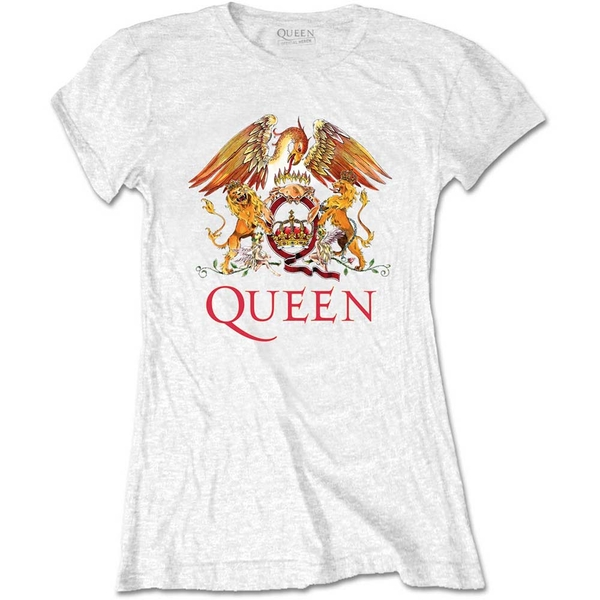Queen - Classic Crest Women's XX-Large T-Shirt - White