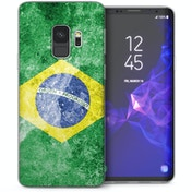 CASEFLEX SAMSUNG GALAXY S9 RETRO BRAZIL FLAG CASE / COVER (3D)