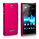 YouSave Accessories Sony Xperia E Hybrid Case - Hot Pink