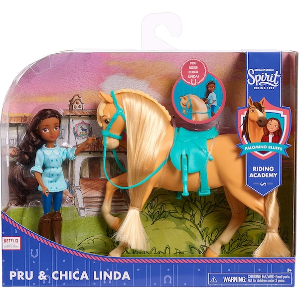 Spirit Pru & Chica Linda Small Doll & Horse Playset