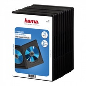 Hama Standard DVD Double Jewel Case Pack of 10 Black