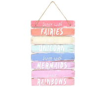 Dance With Fairies Plaque Sign