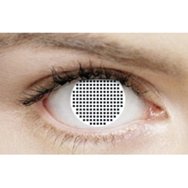 White Mesh 1 Month Halloween Coloured Contact Lenses (MesmerEyez XtremeEyez) - Image 2