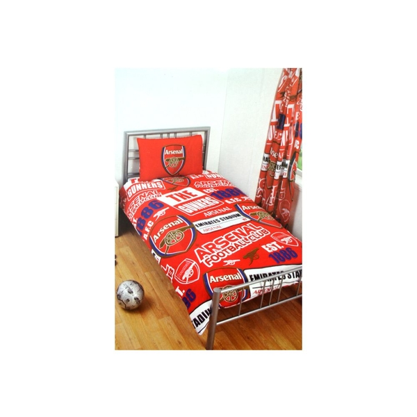 Arsenal Patch Single Duvet and Pillow Case Set