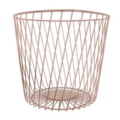 Wire Bin Rose Gold Electroplated 25cm