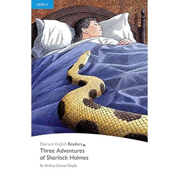 Level 4: Three Adventures of Sherlock Holmes by Sir Arthur Conan Doyle (Paperback, 2008)